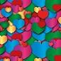 Хлопушка пневматическая (сердца)-300мм